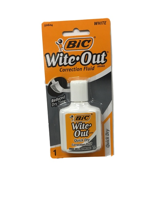 Image For Bic Wite Out Correction Fluid