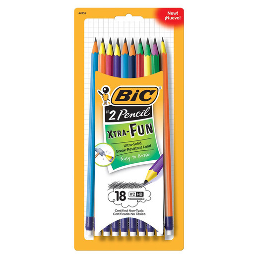 Image For Bic #2 Pencil Xtra-Fun - 8 pack