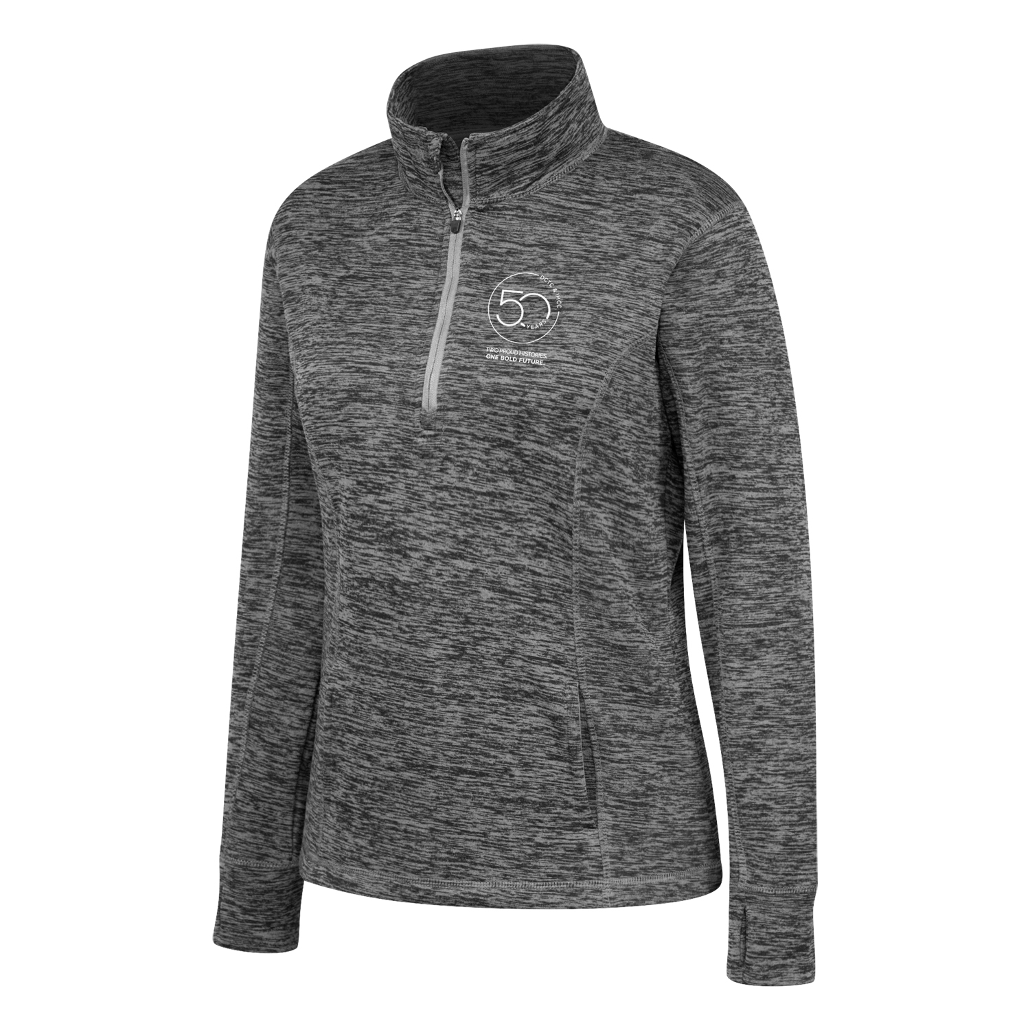 Image For 50th Anniversary Women's 1/4 Zip Sweatshirt